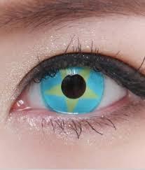 geo sf 03 crazy lens blue u0026 yellow star terror eyes halloween