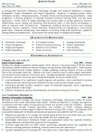it manager sample resume sample it project manager resume free