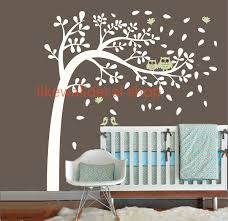vinyl wall stickers vinyl wall decal wind blossom tree flying leaf cute bird owl mommy