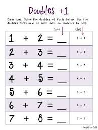 doubles addition facts worksheets 19 best doubles images on math doubles doubles facts