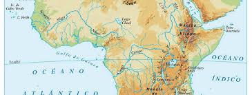 mapa de africa mapa físico de áfrica aprende geografía historia arte tic y