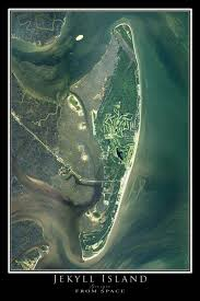 jekyll island map jekyll island satellite poster map terraprints com