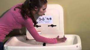 Koala Kare Changing Table by Koala Kare Diaper Changing Table Features Youtube