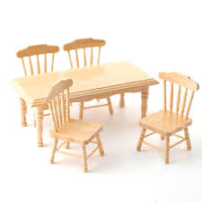 pine kitchen furniture df131p 1 12 scale pine kitchen table and 4 chairs minimum world