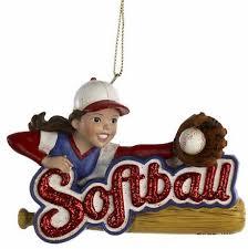 Softball Christmas Ornament - baseball christmas ornaments