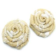 aliexpress com buy 50pcs lot 2inch handmade burlap flower fabric