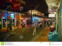 Bourbon Street New Orleans Map by Bourbon Street New Orleans At Night Editorial Stock Photo Image