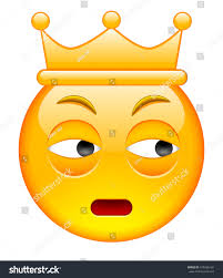 cheese emoji distrust face crown distrust emoji crown stock vector 475096165