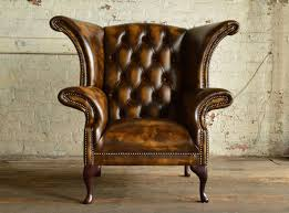 Chesterfield Wing Armchair Ashbourne Leather Chesterfield Wing Chair Abode Sofas