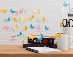 3d sticky note specimen box content gallery paper butterfly wall permission is given for the reproduction and re use of the images provided in this image gallery for the purpose of promoting suck uk products and the suck