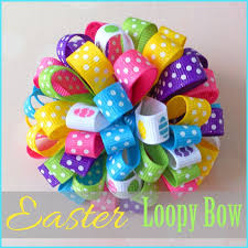 easter hair bows learn how to make this easter loopy hair bow on the where