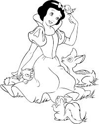 snow white coloring pages free coloring pages printables for kids