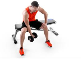 Bench Exercises With Dumbbells 6 Exercises With A Weights Bench Domyos By Decathlon