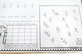 equivalent fractions u0026 decimals free printable pack