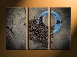 modern kitchen art paintings 3 piece kitchen brown coffee large canvas