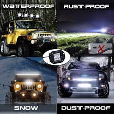 Led Work Light Bar by Nilight 2pcs 18w Flood Led Work Lights Jeep Light Bar Off Road