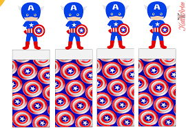 captain america free printable original nuggets wrappers
