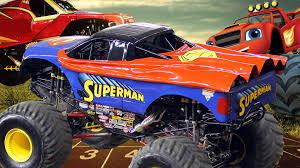 finger family rhymes superhero monster trucks cartoons