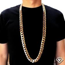 cuban link necklace images Wholesale 18k gold plated stainless steel cowboy cuban link chain jpg