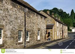 row of cottages in ashford on the water stock image image 34545695
