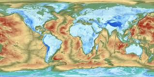 World Elevation Map by Maps Of The World World Maps Political Maps Geographical Maps