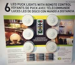 puck lights with remote capstone 6 led puck lights wireless w remote control timer dimmer