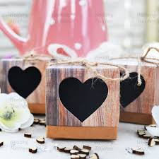 rustic hearts vintage shabby chic wedding favour boxes