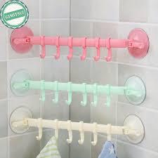 haken badezimmer handtuchhalter rack wand saugnapf 6 haken badezimmer küchentür