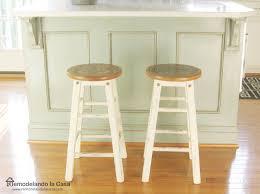 remodelando la casa bar stool makeover from modern to rustic