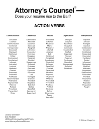 Strong Resume Words Just A Few Action Verbs To Use On Your Legal Resume Legal