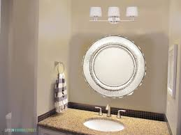round gold toned mirror options for the dining room powder bath refresh plans