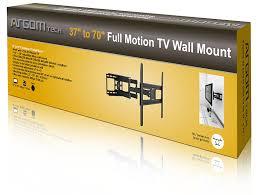 tv wall mount 400 x 400 amazon com argom flat panel tv wall mount tilt swivel arm 23 u0027 u0027 70