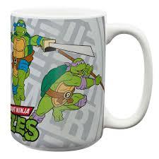 ninja turtles large coffee mugs for sale leonardo michelangelo