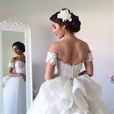 2017 ball gown wedding dresses sweetheart off the shoulder short