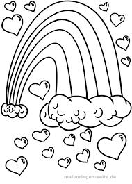 Coloriage cœurs arcenciel  Coloriage gratuit à télécharger