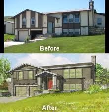 split level front porch designs split level exterior remodel