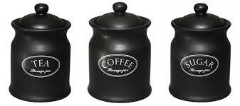 black ceramic kitchen canisters tuftop company ascot black tea