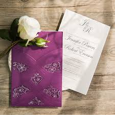 Purple And Silver Wedding Purple Wedding Invitations By Elegant Wedding Invites