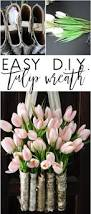 diy easy tulip wreath with birch vase in 10 minutes designed