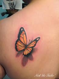 3d ankle butterfly tattoos for design idea for and