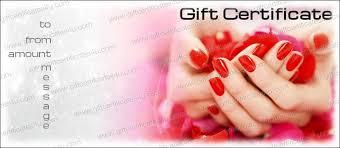 giftcertificates4u com nail salon gift certificate template