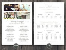 wedding photographers prices easy to customize 5 x 7 wedding photographer pricing guide