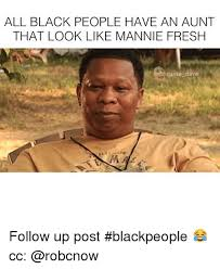 Funny Memes Black People - all black people have an aunt that look like mannie fresh davie dave