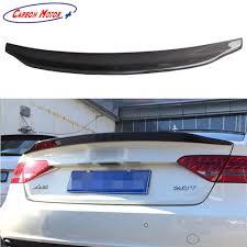 audi ebay carbon fiber rear trunk spoiler boot lid for audi a5 2 doors coupe