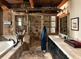 rustic home interiors bathroom rustic home interiors with bathroom lighting ideas and