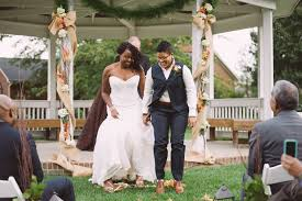 jumping the broom wedding broom jumping a bicycle built for two
