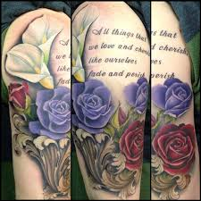 rebel muse tattoo tattoos custom roses and calla lilies