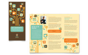 word template tri fold brochure business services tri fold