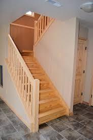 Oak Banister Makeover Staircase U2013 From Basement Ak Britton Construction Llc