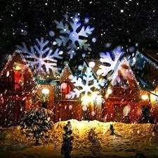christmas spotlights yumomo christmas projector l moving white snowflake led